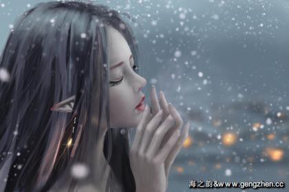 ѩ 女孩唯美插画4k高清动漫壁纸-百度搜索:耿真seo.jpg